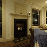 Bedroom fireplace