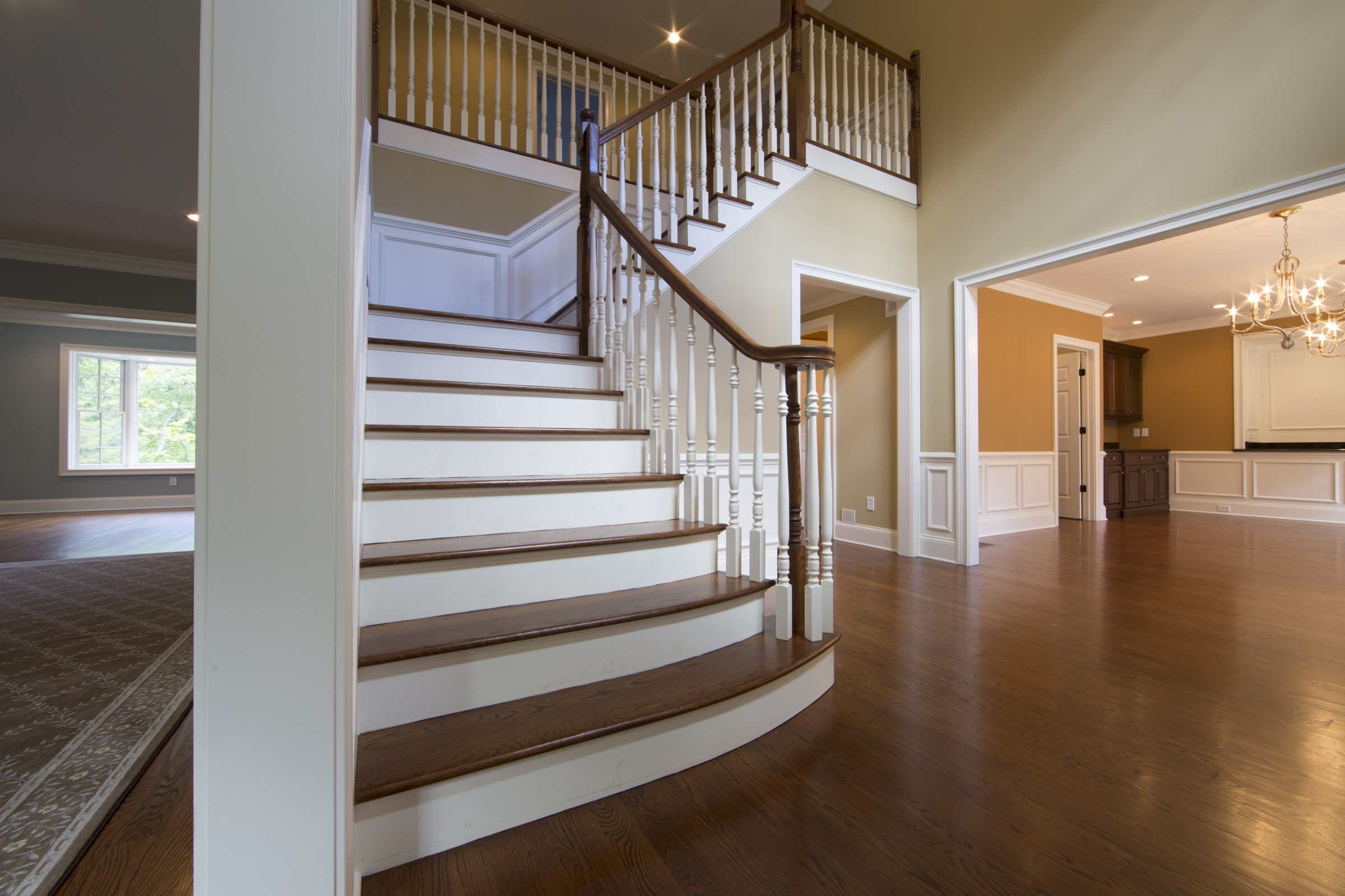 Coyle modular homes foyer and front stairs coyle modular for Manufactured stairs