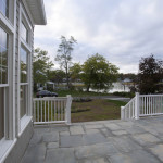 Bluestone patio provides great views of the Sound..