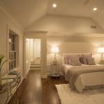 Sunken master bedroom suite