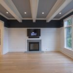 coffered ceiling in living room