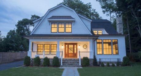 rebuilt home in Rye NY