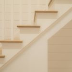 grayed white oak stairs